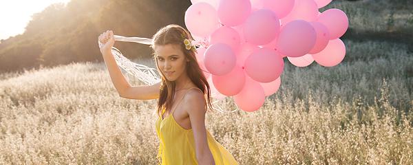 Amberleigh West – Różowe balony