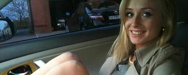 Blond amatorka z Ukrainy