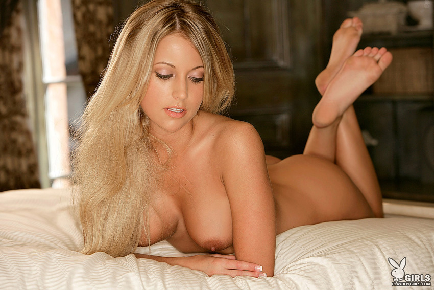 Heather Jo Hughes Naked On The Bed From Women Of Playboy 1