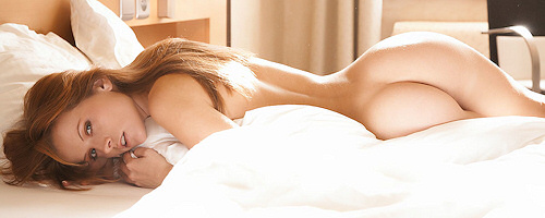 Irene Richie w łóżku