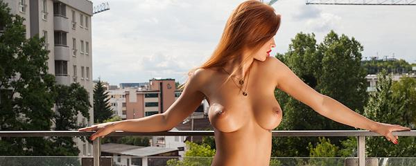 Justyna na balkonie