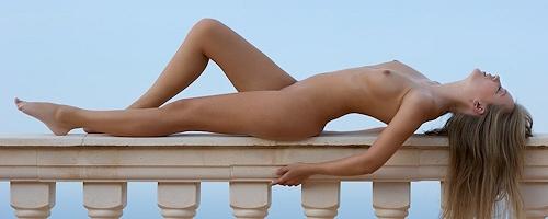 Kinga na balkonie