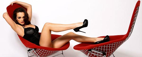 Kristen Pyles – Designerski czerwony fotel