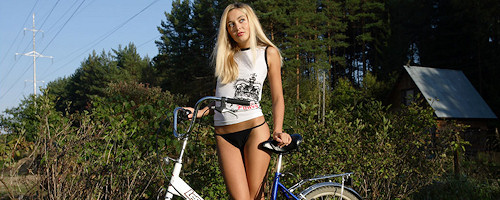 Lilya na rowerku