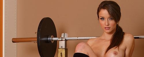 Malena Morgan – Ćwiczenia ze sztangą