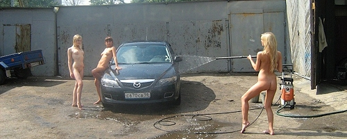 Myjnia samochodowa w Petersburgu