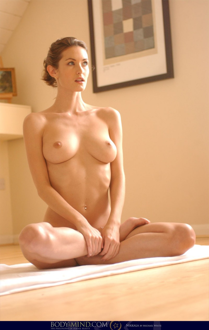 Sexy naked girls doing yoga