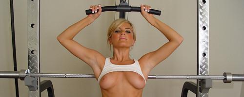 Princess Cameron na siłowni