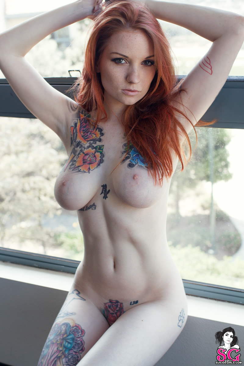 Nude girls red heads with tats how