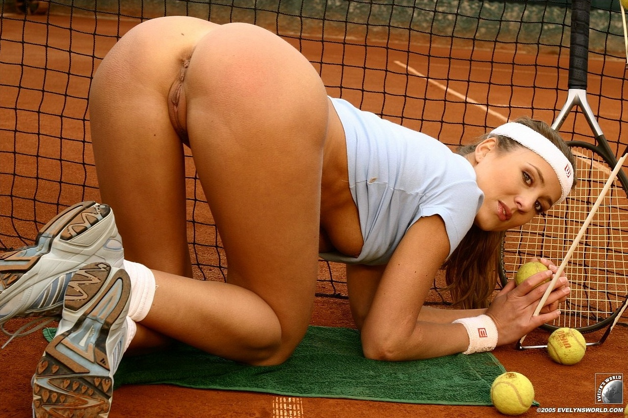 Nude female sport star