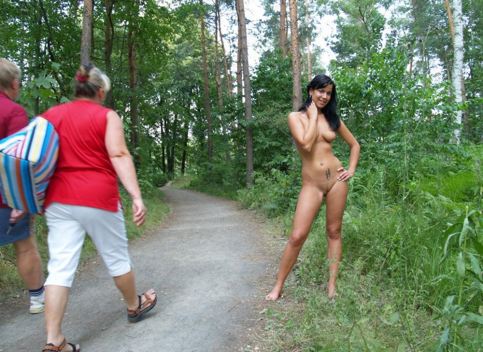 любительские видеоролики в лесу