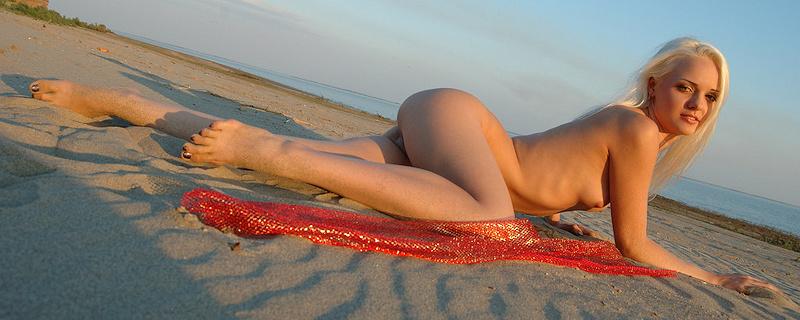 Vika na plaży