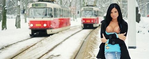 Zimowy spacerek po mieście z Ashley Bulgari